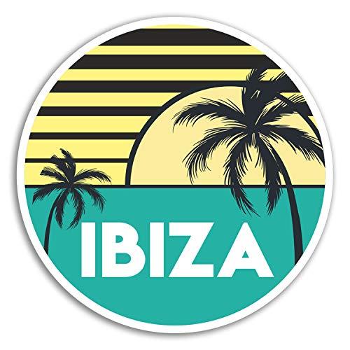 2 x 10cm Ibiza Vinyl Aufkleber - Spanien Kühle Reise-Aufkleber Laptop Gepäck # 18185 (10 cm breit) -