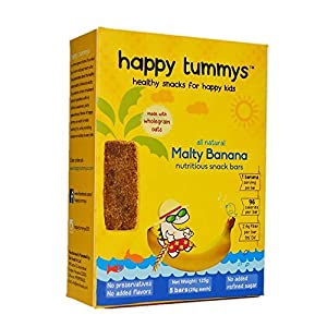 Happy Tummys Malty Banana Cashew Snack Bars | Natural Energy Boost for Toddlers and Kids | Healthy Snack for Happy Kids | Nutritious and Ready to Eat | (Pack of 6 Bars) | 180g