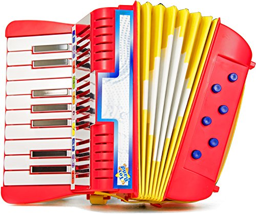 Akkordeon Kinder-Akkordeon Ziehharmonika Solo Pianoakkordeon Tasteninstrument Harmonika