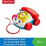 Fisher-Price Mon Téléphone mobile jouet bébé, 12 boutons et 4 couleurs de lumières, pour apprendre les chiffres, les lettres, 12 mois et plus, FGW66