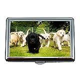 Zigarettenetui, Tiere Katze Kätzchen Hund Golden Labrador Hund hd, Kreditkarten-Protector