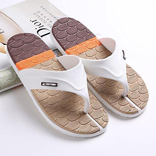 pantoufles rayées, tongs, chaussures pour hommes de plage dété anglais, simple broche, des tongs, des hommes, des pantoufles antidérapantes brown