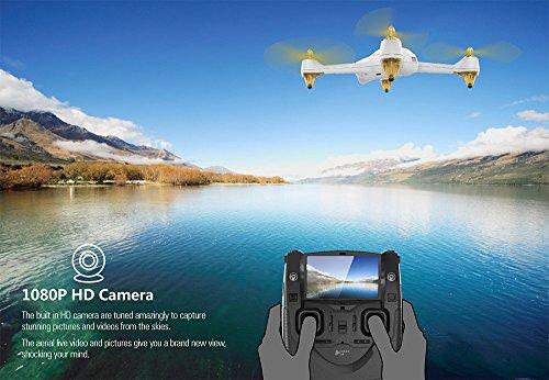 Hubsan H501S X4 Brushless FPV GPS Quadrocopter 5.8 Ghz Drohne mit 1080P Full HD Kamera und Follow-Me Modus RTH-Funktion Weiß&Gold - 3