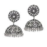 Jaipur Mart Oxidised Silver Tone Plated ...