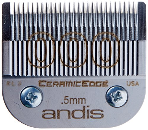 ANDIS Ceramic Edge One Set Blade Size 000 (1/50 inch/0.5 mm) (Model:64480) (for Men)