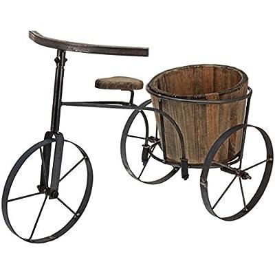 Dekorativer Holz Fahrrad Stil Garten Übertopf von Direct Global Trading - Du und dein Garten