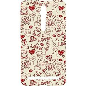 Casotec Love Hearts Design Hard Back Case Cover for Apple iPhone SE