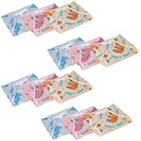 PrettyKrafts Baby Waterproof Reusable Nappies Pack Of 12 (Multi Color)
