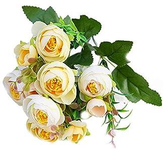 D-SYANA8 Narutosak – 1 Pieza de Flores Artificiales de Camelia para decoración de Bodas, hogar, Oficina, Hotel, Restaurante, Patio, jardín, Patio