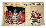 Fahne / Flagge Königreich Württemberg Standarte 90 x 150 cm