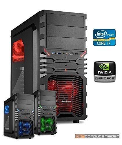 dercomputerladen Gamer PC System Intel, i7-6700K 4x4,0 GHz, 16GB DDR4 RAM, 2000GB...