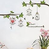 RayLineDo Unsere Liebe ist Eine Geschichte Ohne Ende Fashion Design entfernt Vinyl Wandtattoo Beautiful Bird Cages Wandtattoo House Deko Wand Dekoration