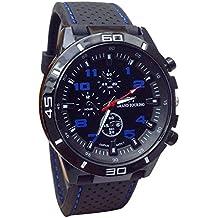 SKY ♥♥2017 Hombres Reloj De Cuarzo Relojes Militares Reloj Deportivo Reloj De Moda De Silicona (azul)