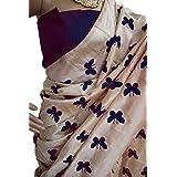 Harikrishnavilla Women's Latest Designer Party Wear New Collection Chanderi Cotton Bollywood Trendy Elegant 2018 Latest Designe Saree For Women With Bangalore Silk Unstitched Blouse ( Multi-Colour Butterfly, Free Size) - B07BJHCSG2