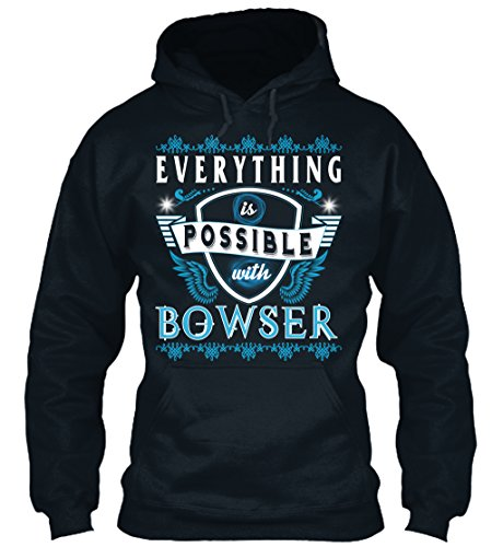 n / Herren / Unisex S Everything possible with Bowser Dunkelblau (Bowser Hoodie)