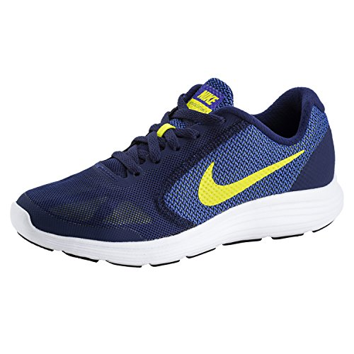 NIKE INTERNATIONAL Revolution 3 Größe 37.5 blau-gelb  (Für Gelbe Nike Schuhe Kinder)