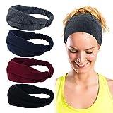 ECOMBOS Sport Stirnband für Frauen Lady - Headband Schweißband für Workout, Jogging, Walking, Yoga, Fitness, Crossfit (stirnbänder-b)