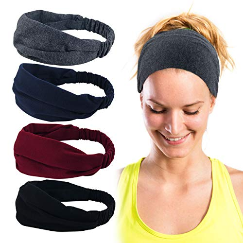 ECOMBOS Sport Stirnband für Frauen Lady - Headband Schweißband für Workout, Jogging, Walking, Yoga, Fitness, Crossfit (stirnbänder-b)