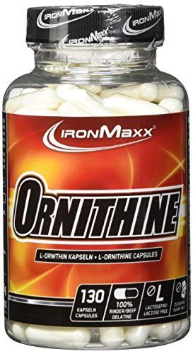 IronMaxx L-Ornithin – Nahrungsergänzungsmittel für eine erhöhte Regenerationskraft besonders in der Muskelaufbau Phase – 1 x 130 Kapseln