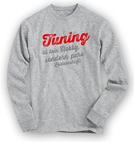 Tuning Sweatshirt | Tuning-Pullover | Hobby | Leidenschaft | Unisex | Sweatshirts Graumeliert