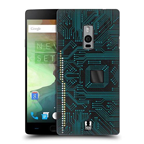 Head Case Designs Schwarz Leiterplatten Ruckseite Hülle für OnePlus 2 / Two