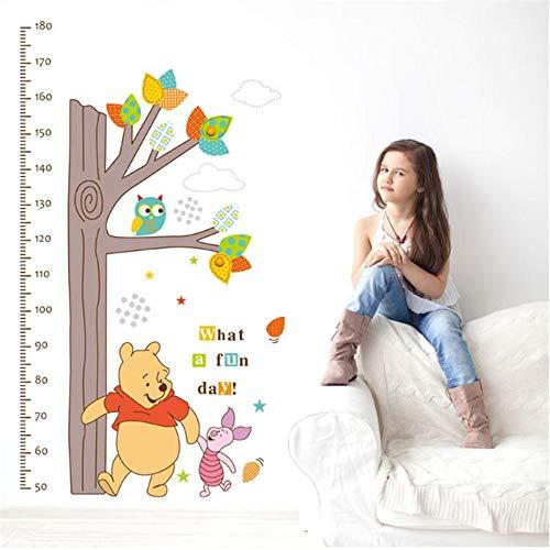Winnie The Pooh Wandaufkleber Kinder Höhe Maßnahme Wachstum Diagramm Baum Kinder Schlafzimmer Wohnkultur Wandbild Aufkleber -