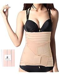 MONDAYNOON 2-in-1 Ceinture post-partum / après grossesse / maternité/ Ceinture abdominale pour les femmes; Couleur: Nude, Taille standard
