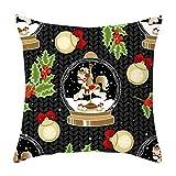 Cuteelf Weihnachtskissenbezug Weihnachtskissenbezug Dekokissenbezug Sofa Hüftkissen Kissen Weihnachtsmann Christbaumschmuck Schlafzimmerdekoration