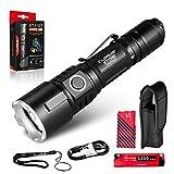 Klarus XT11GT 2000 Lumen wiederaufladbare LED-Taschenlampe, CREE XPH35 HD E4 LED, superhell, leistungsstark, taktische Taschenlampe für Camping, Wandern und Notfall