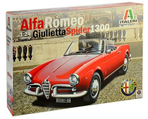 Italeri 3653 Modello in Plastica da Assemblare Auto Alfa Romeo Giulietta Spider 1300 Model Kit Scala 1:24