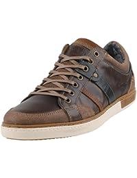 Mustang - Zapatos de cordones de Piel para hombre Marrón Braun (32 dunkelbraun)