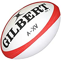 GILBERT A-XV training rugby ball [red]-Size 4