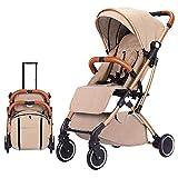 QZX Poussette Légère Système de Voyage pour Poussette Pliante Main Courante Amovible avec tirant Towable Roue Avant pivotante à 360 ° Convient aux bébés de 0 à 3 Ans