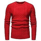 MIRRAY Herren Solide Pullover Casual Strick Rollkragenpullover Bluse Top