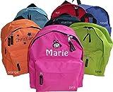 GiO-Shop * Sonderanfertigung mit Stickerei Kinder-Kindergarten Rucksack mit Namen & Motiv Bestickt (7 Farben zur Auswahl)