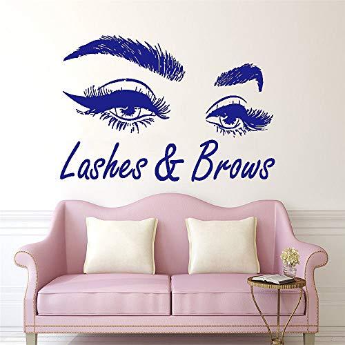 Neuheiten Air (Neuheiten Big Eye Wimpern Wandaufkleber Schöne Mädchen Augen Decals Art Vinyl Wohnkultur Schönheitssalon Stil Aufkleber 62 * 42 cm)