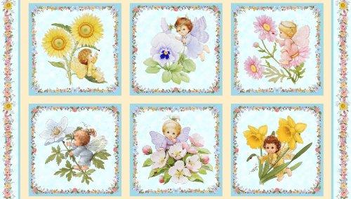 Engel & Feen Fairies Platten Baumwolle Quilten Stoff-110cm x 60cm -