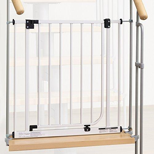 IMPAG ® Treppenschutzgitter Easy Step für Geländer | inkl. 4 Y-Adapter für 73cm - 142cm | ohne Bohren | einfache Montage | Treppen-Gitter Baby Kleinkind Hund