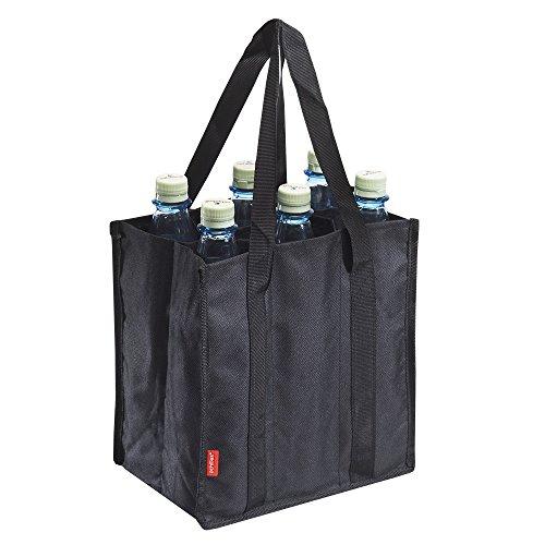 Produktbild achilles Bottle-Bag 6er, Flaschentasche für 6 Flaschen, Flaschenträger in schwarz, 25 cm x 17 cm x 27 cm