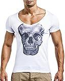 LEIF NELSON Herren T-Shirt clubwear Sweatshirt Tshirt Shirt Hoodie; Grš§e M, Weiss