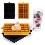 2x Eiswürfelform aus Silikon - 48 Eiswürfel, 2,6cm groß, in 2 Farben