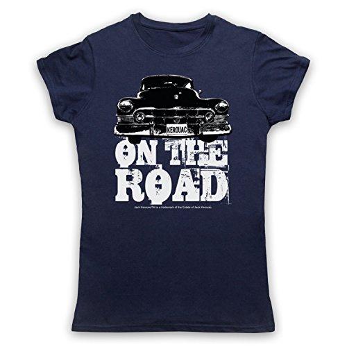 Jack Kerouac On The Road Car Damen T-Shirt Ultramarinblau