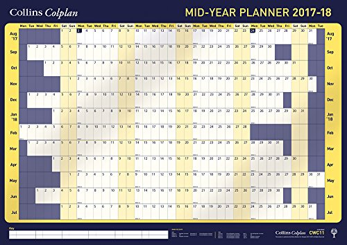 Collins A1 Colplan 2017-2018 Mid Year Student Wall Planner
