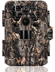 TEC.BEAN 12 MP HD 1080P Caméra de chasse Imperméable, Surveillance Infrarouge Sans Luminosité avec 36 LED IR, Vision Nocturne jusqu'à 23 m