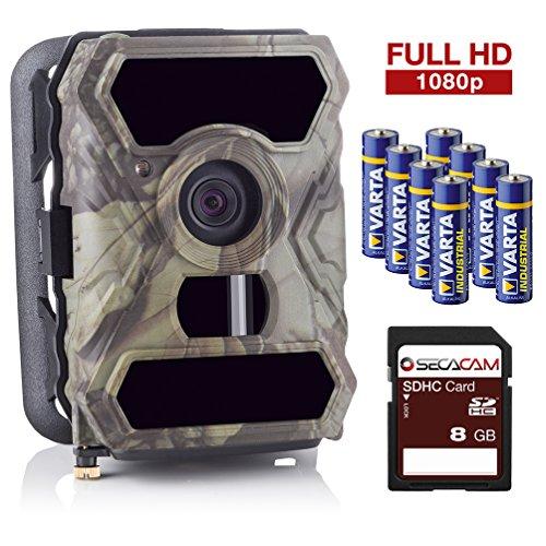 SecaCam HomeVista kabellose getarnte Outdoor Überwachungskamera (12 MP, Full HD Tag- / Nachtsicht, 100° Weitwinkel, 0,4 Sekunden Auslösezeit, Bewegungsmelder)