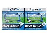 Penalty Zone 2er Set Fußballtor Pop Up Fußball Garten Tor selbstaufbauend Hockeytor mobil