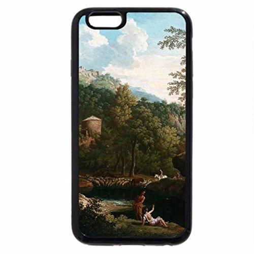 iPhone 6S / iPhone 6 Case (Black) Jacob de Heusch - Italian Landscape