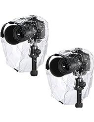 Neewer® Couvertures Anti-pluie Anti-poussière Caméra Etanche Protector Rainwear pour Canon Nikon Sony Pentax Samsung Olympus Fuji et Autres Appareils Photo (2 pièces)