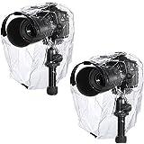 Neewer® Regen-Abdeckungs-Mantel-Staub-fest, Wasserdichte Kamera-Schutz-Regenkleidung für Canon Nikon Sony Pentax Olymp Samsung Fuji und andere DSLR-Kameras (2Stk)