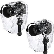 Neewer® Lluvia de cobertura de abrigo de Ropa de protección de cámara fijo, densidad de agua de lluvia de polvo para Canon Nikon Sony Pentax Olymp Samsung Fuji y otros cámaras DSLR (2unidades)